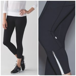 Lululemon 🌿 Rebel Runner Ankle Zip Crop
